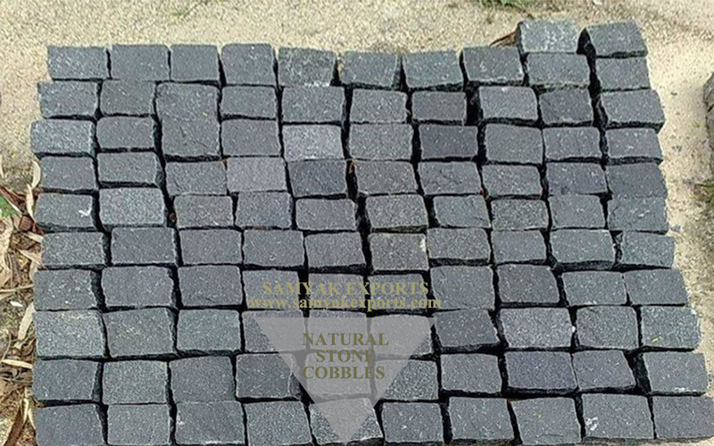 Sagar Black Sandstone Cobbles, Pavers Manufacturer, Exporter, Supplier In India