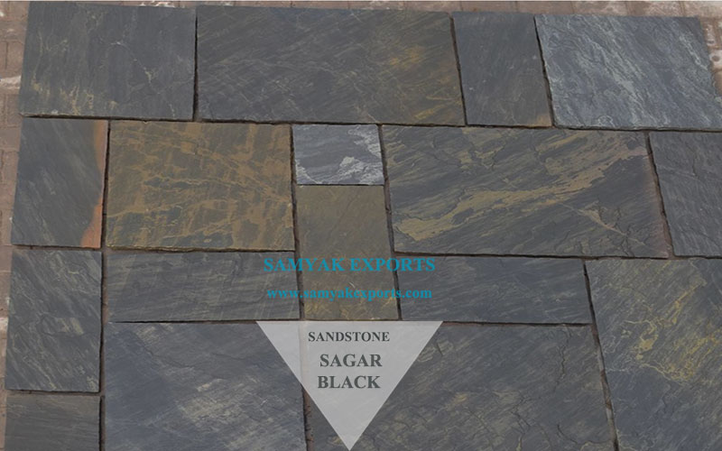 Sagar Black Sandstone Tile Slab Manufacturer In India