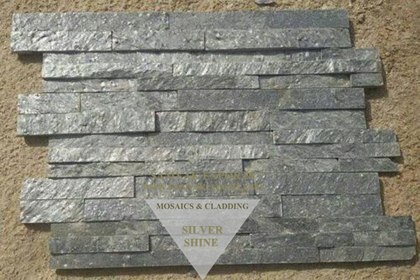 Silver Shine Stone Wall Cladding Panel, Tile Manufacturer in India