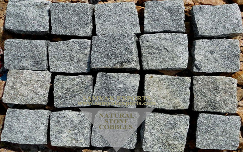 Silver Star Granite Stone Cobbles, Pavers, Paving, Pebble Stone Manufacturer, Supplier In India