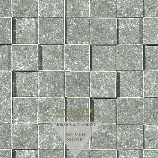 Silver Shine Stone Mosaic Tile, Panel Manufacturer In India