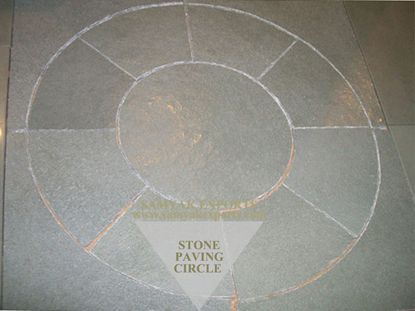 Tandur Blue Limestone Paving Circle, Paving Kit Manufacturer, Exporter In India