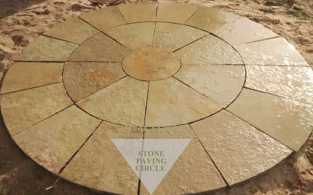 Tandur Yellow Limestone Paving Circle, Paving Kit Manufacturer, Supplier In India