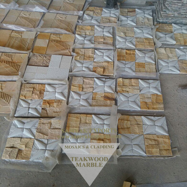 Teakwood Marble Stone Designer Mosaic Tile, Panel Manufacturer in India