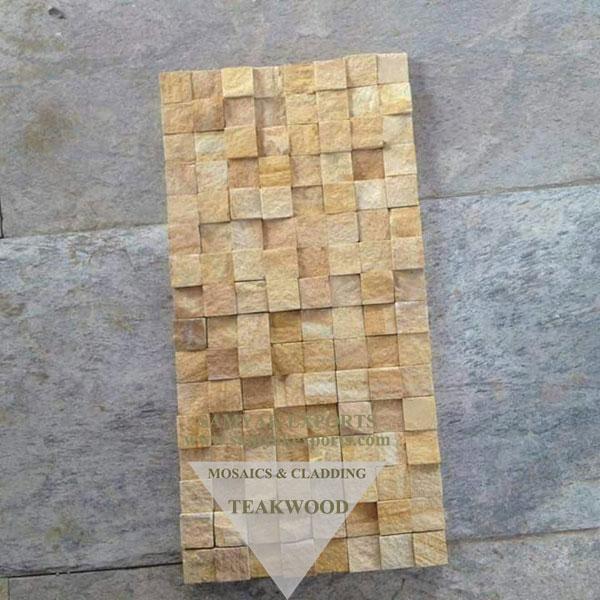 Teakwood Sandblast Mosaic Tile, Panel manufacturer, Exporter In India