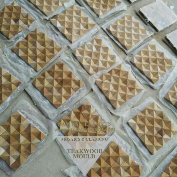 Teakwood Stone Mould Mosaics Tile