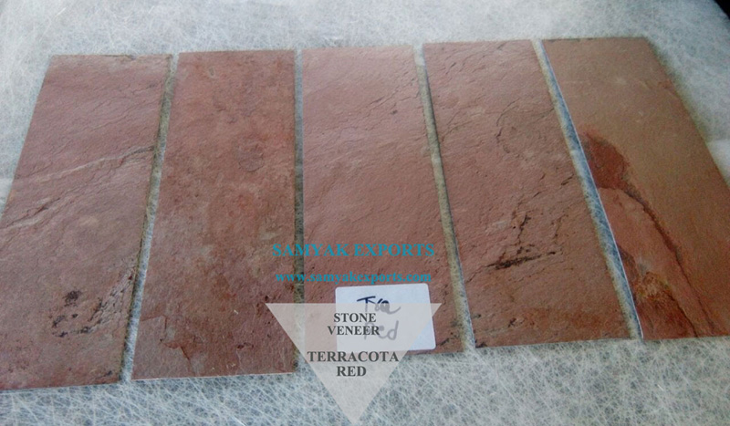 Terracotta Red Stone Veneer Manufacturer, Exporter, Supplier In India
