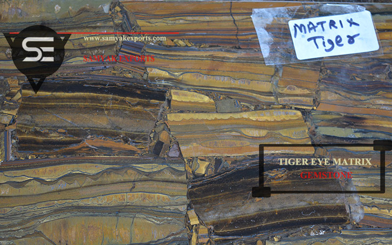 Tiger Eye Matrix Gemstone Tile Slab Table Top Manufacturer in India