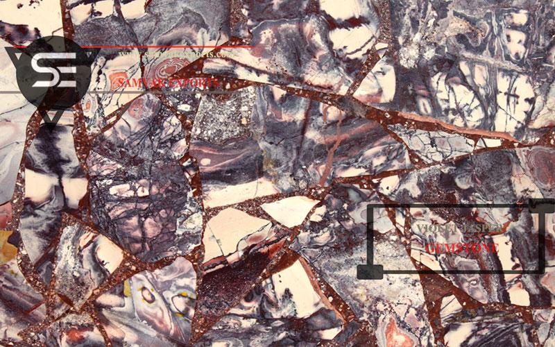 Violet Jasper Gemstone Tile Slab Manufacturer In India In udaipur
