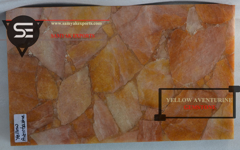 Yellow Aventurine Gemstone Tile Slab Manufacturing Company In India