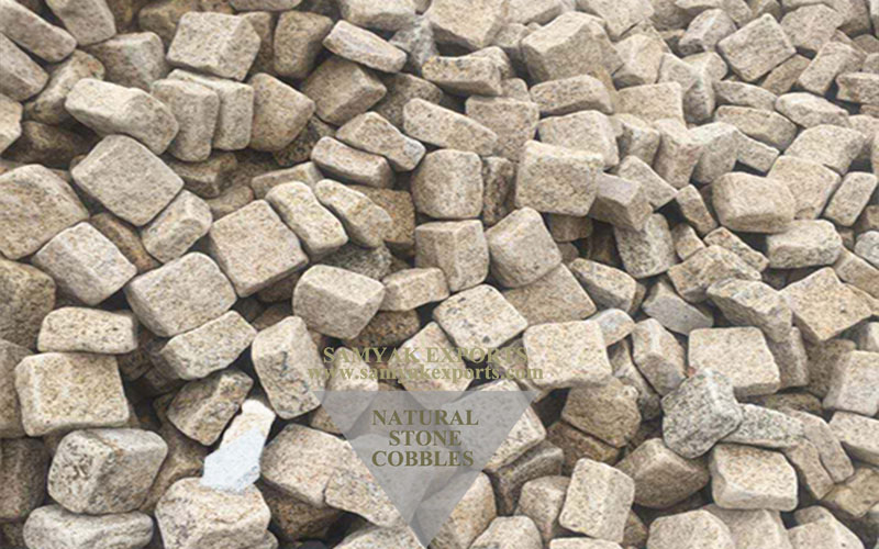 Yellow Granite Stone Cobbles, Pavers Top Manufacturer in India