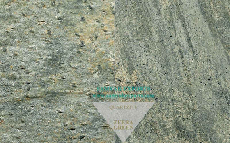 Zeera Green Quartzite Tile Slab, Room Flooring, Outdoor Flooring, Manufacturer And Supplier In India