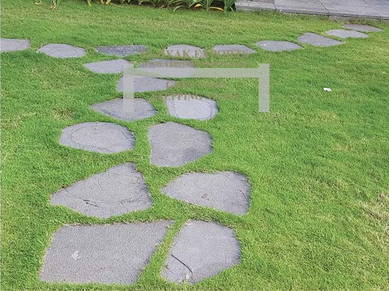 Grey Sandstone Stepping Stone Manufacturer, Exporter, Supplier In Rajasthan, In India
