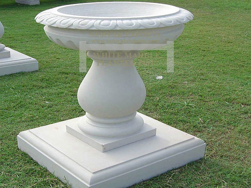 White Marble Garden Planter Pot Manufacturer, Supplier, Exporter In India, In Rajasthan, Udaipur