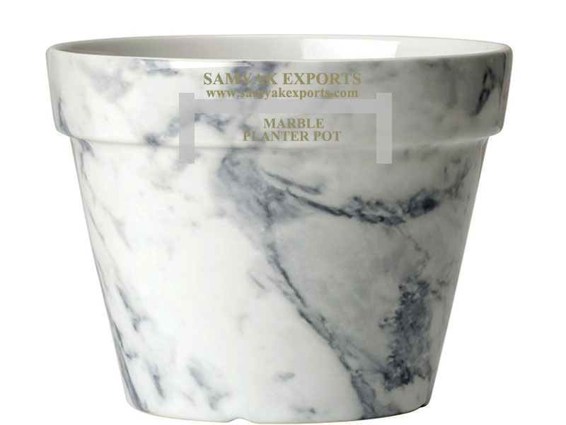 White Marble Planter Pot, Granite, Natural Stone Planter Pot Manufacturer, Supplier, Exporter In India, In Rajasthan