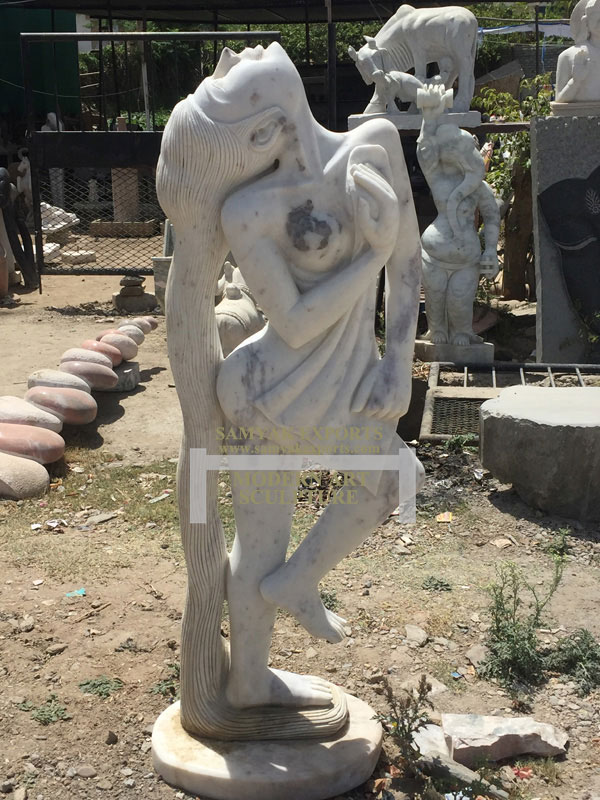 White Stone Modern Artifacts, Modern Sculpture, Stone Art Manufacturer, Supplier In India, In Rajasthan, In udaipur
